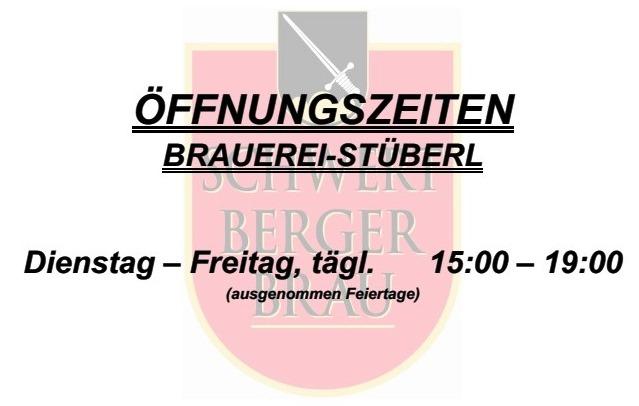 Öffnungszeiten Brauerei-Stüberl 1